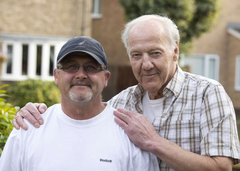 Ian Owen, left, went to Ron Taylor aid after he had a heart attack'Picture Mark Westley ANL-150929-174157009