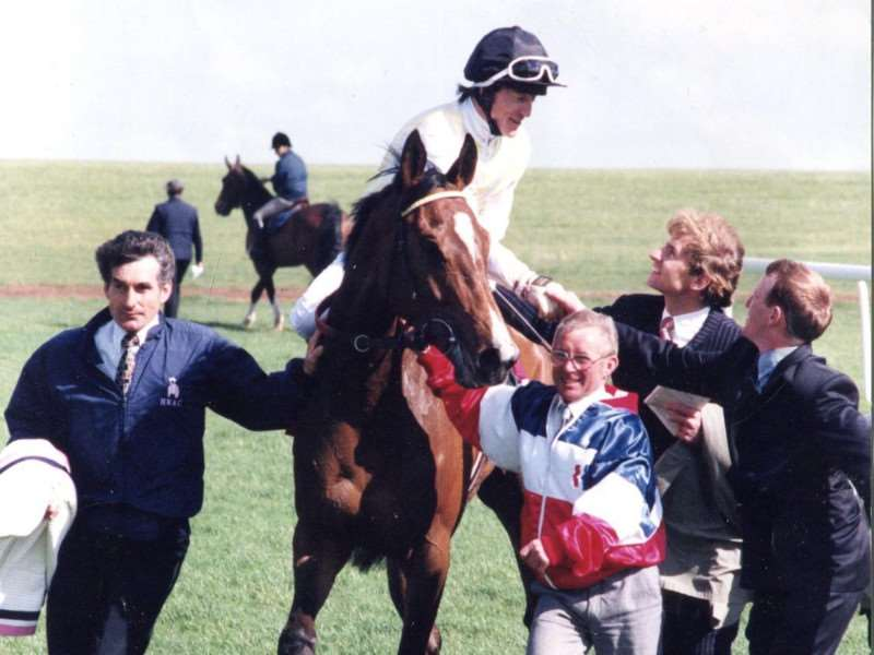 Kieren Fallon is congratulated after winning the 1997 1000 Guineas on Sleepytime for Henry Cecil, but the jockey-trainer relationship was soon to sour.