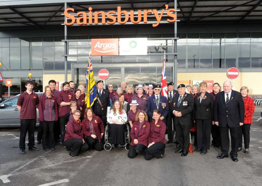 Sudbury Royal British Legion volunteers were collecting donations for the 2017 Poppy Appeal from Sainsburys''''PICTURE: Mecha Morton