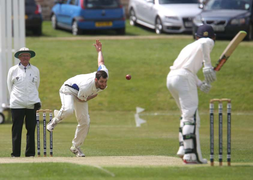 SOLE SUCCESS: Kyle Tanner took one wicket for Hadleigh during their 71-run defeat to Wivenhoe on Saturday