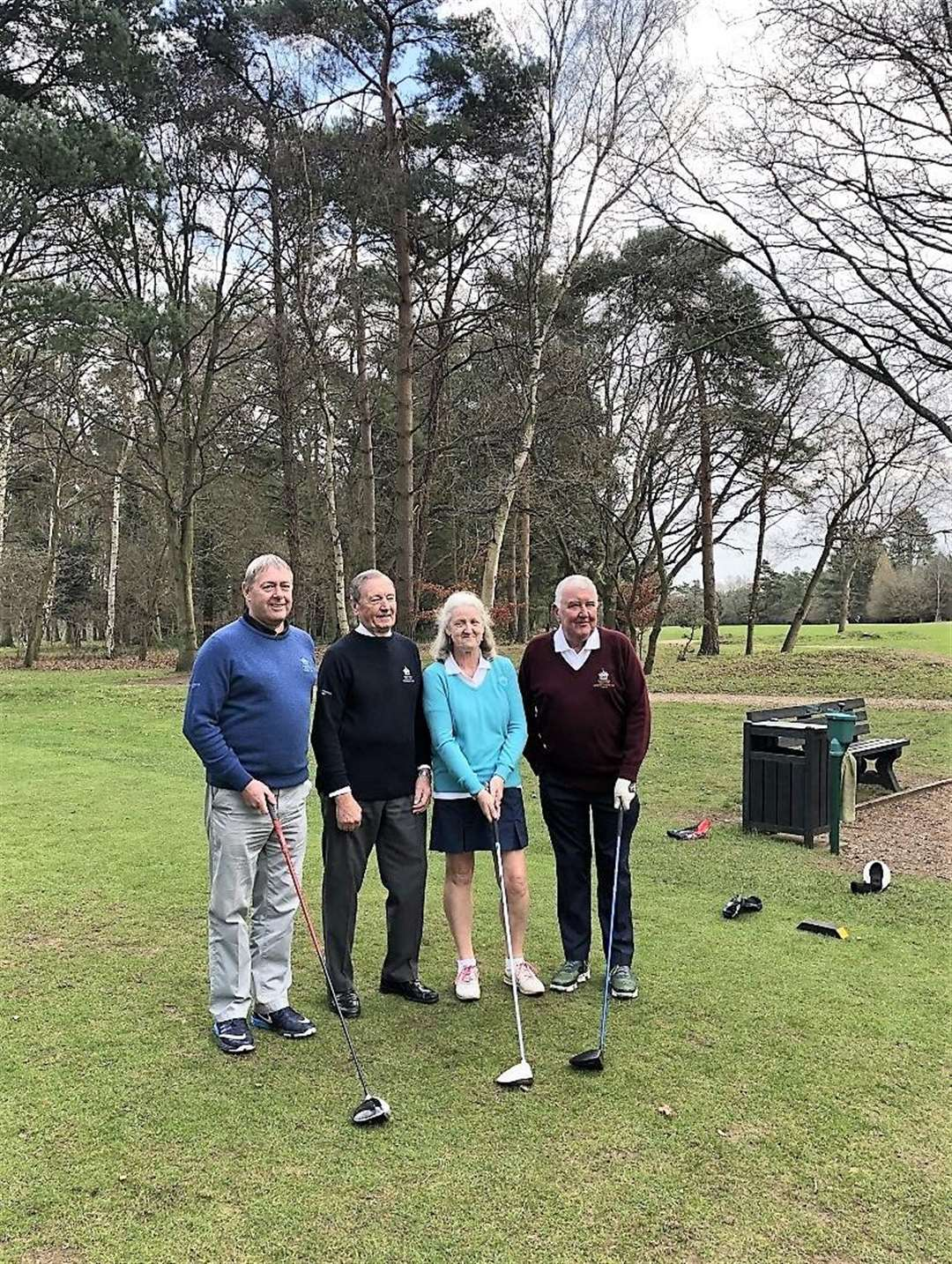 Thetford Captain Mike Horley, President Richard Goodenough, Ladies' Captain Mary Neil, Senior Captain David Smith (6428414)