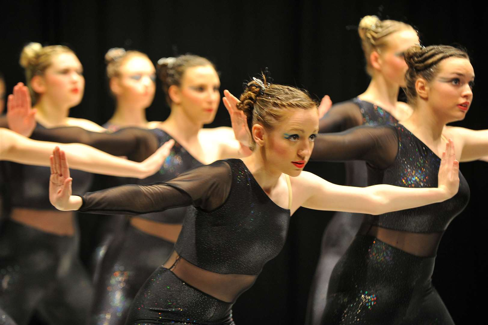 Dance section of Sudbury festival of performing arts.This is the modern groups aged 13-18 section..Pictured: Hazelwood School of Dance from Bury St Edmunds came second. (15245449)