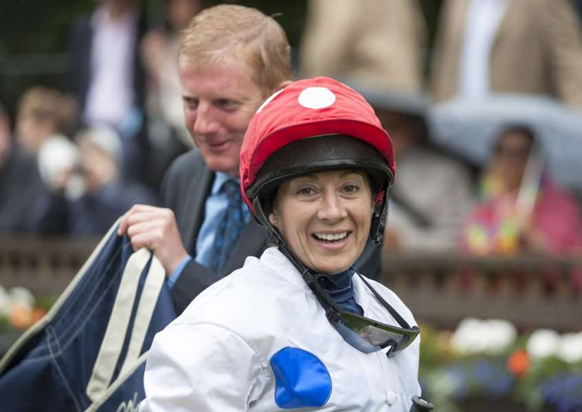 RETURN: Hayley Turner is coming out of retirement for the Shergar Cup. Picture: Mark Westley