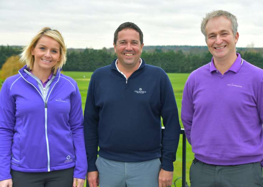 SUCCESSES AND PLANS: Brendon Pyle CEO of the Golf Foundation, regional development officer Katie Moggan at Suffolk Golf Club and director of golf Steve Hall talked to Chris Boughton about golf participation