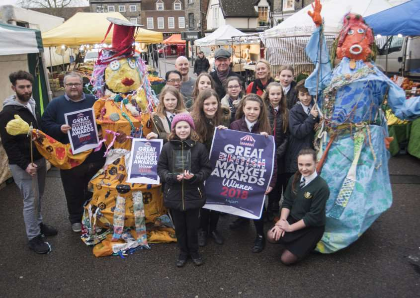 Bury St Edmunds Market's last arts project, a parade of giant puppets made by St Benedict's School pupils, won Best Market Attraction at the Great British Market Awards in January.'Picture Mark Westley