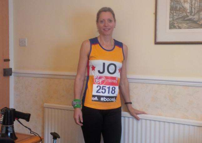 Jo Rosenwold is running three marathons in six weeks, all for St Nicholas Hospice Care ANL-150503-121220001