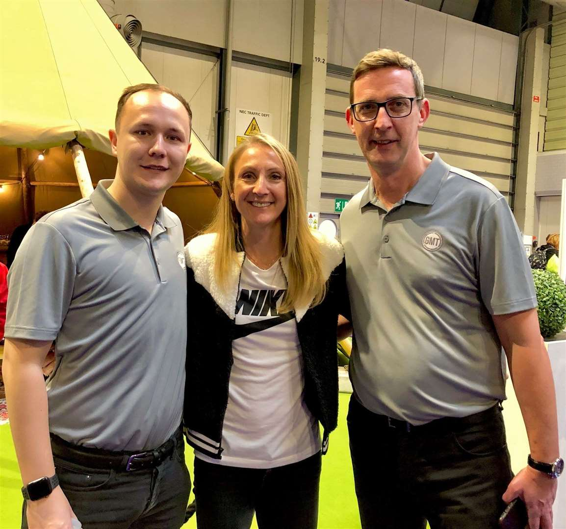 George Cummins, left, and Scott Barton have supported Paula Radcliffe