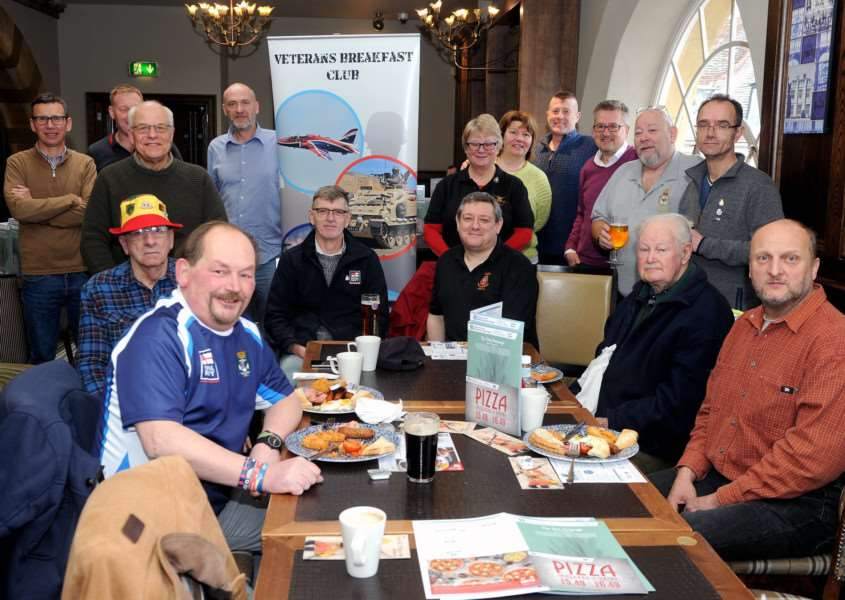 Martyn Bell set up an Armed Forces and Veterans Breakfast Club in Bury with the first meeting held on Sunday. '''PICTURE: Mecha Morton
