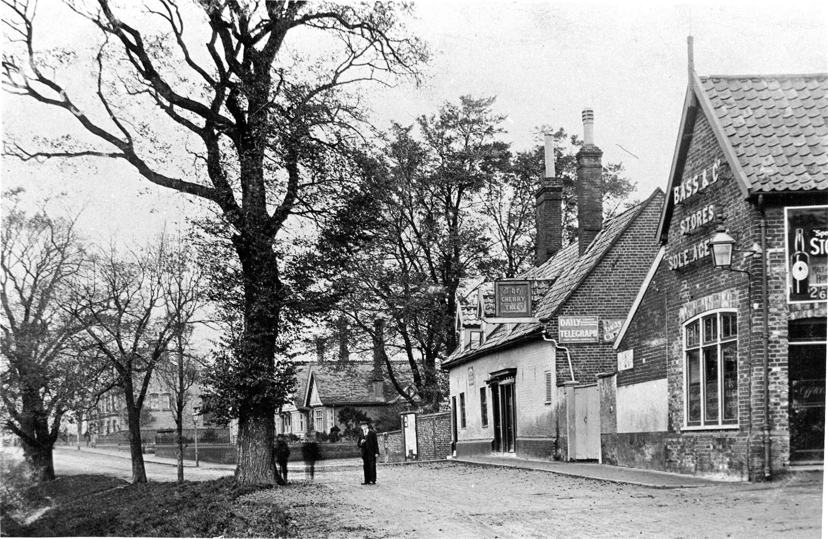 St Edmund's Almshouse shown next to the Cherry Tree Pub in Bungay. Picture: Bungay Museum Trust