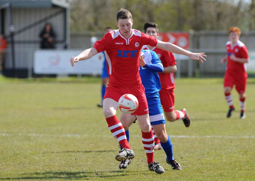 FOOTBALL - Haverhill Rovers v Kirkley & Pakefield''Pictured: Rory Jebb