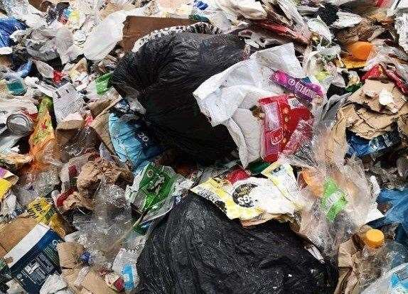 Suffolk County Council has to reject 20% of all recycling waste each year because of items like black bags, nappies and glass bottles incorrectly being put in blue bins. Picture: Suffolk County Council