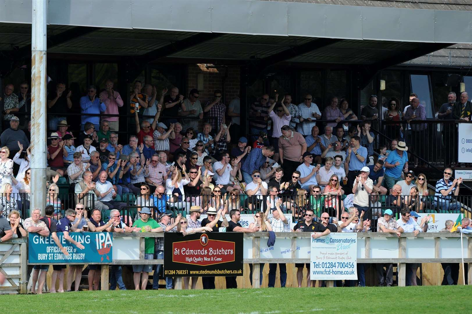 GOOD CROWD: The Haberden will be packed on Saturday for Bury's opener