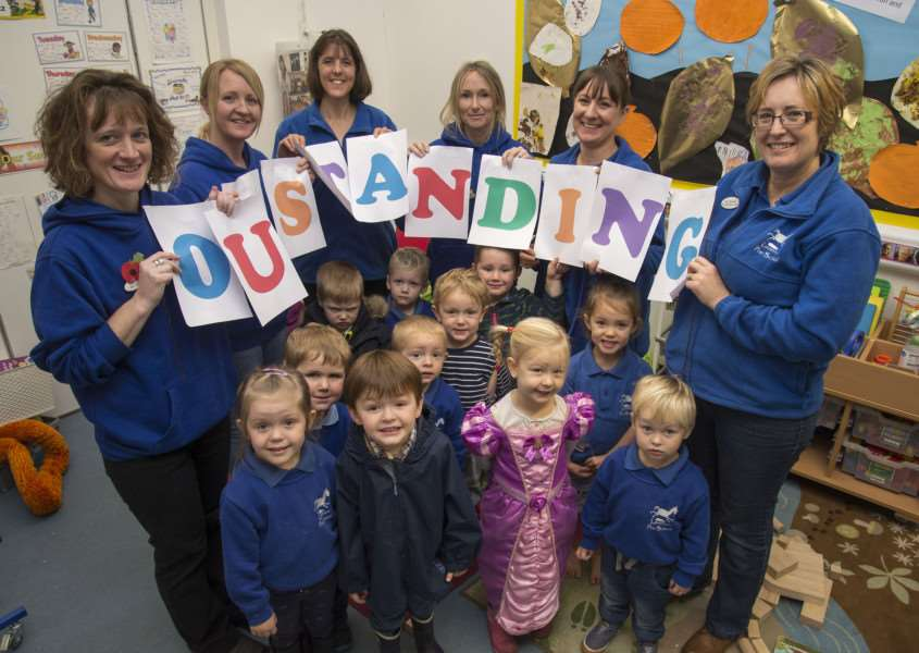 Lavenham Pre School celebrate outstanding ofsted report.''Picture Mark Westley ANL-150311-233549009