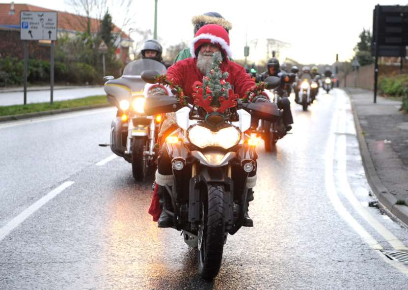 Motorcycle Action Group, on its annual 'ride out' to disability charity Scope