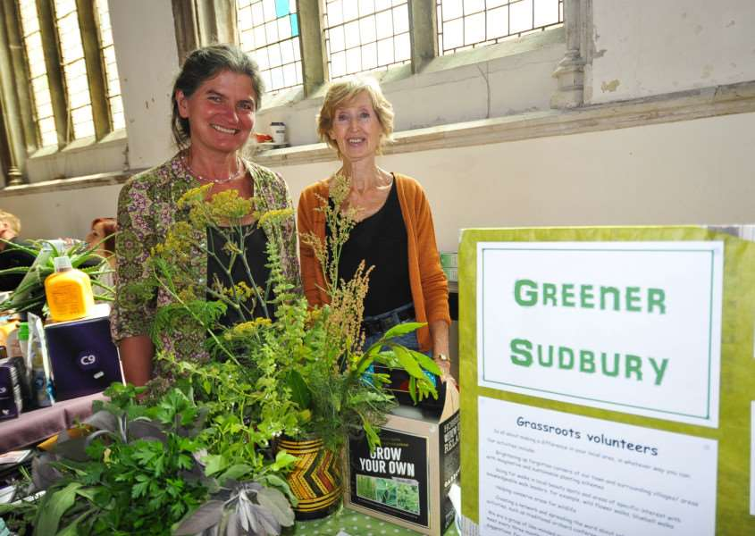 Sudbury hosts its annual Green fair at'St. Peter's Church, Market Hill. FL; Susannah Robinson and Jill Fisher from Green Sudbury. ANL-150308-203731009