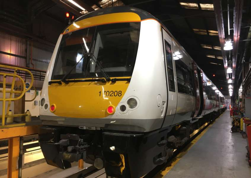 A new Greater Anglia Class 170208 train