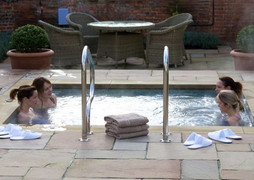 The vitality pool at Weavers' House DSpa at The Swan at Lavenham