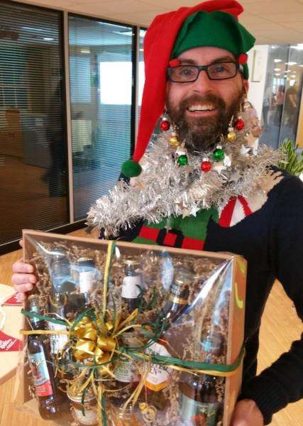 Martin Pearson won the Greene King Christmas Jumper competition ANL-151217-171342001