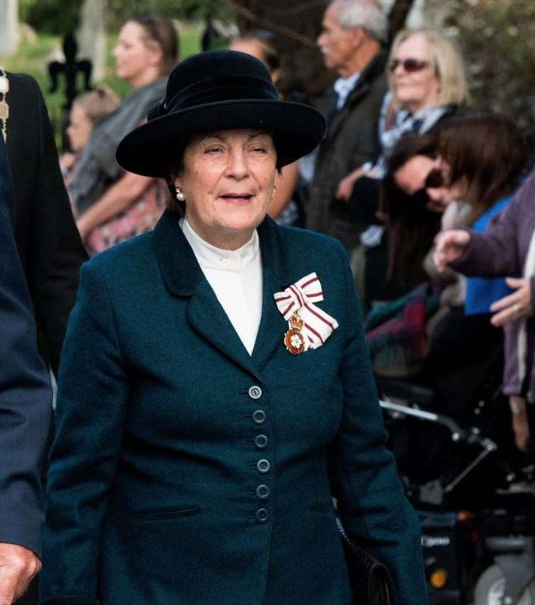 Lady Clare, Countess of Euston at the Battle of Britain Parade, Bury St Edmunds, 2019. Picture: Mark Westley.