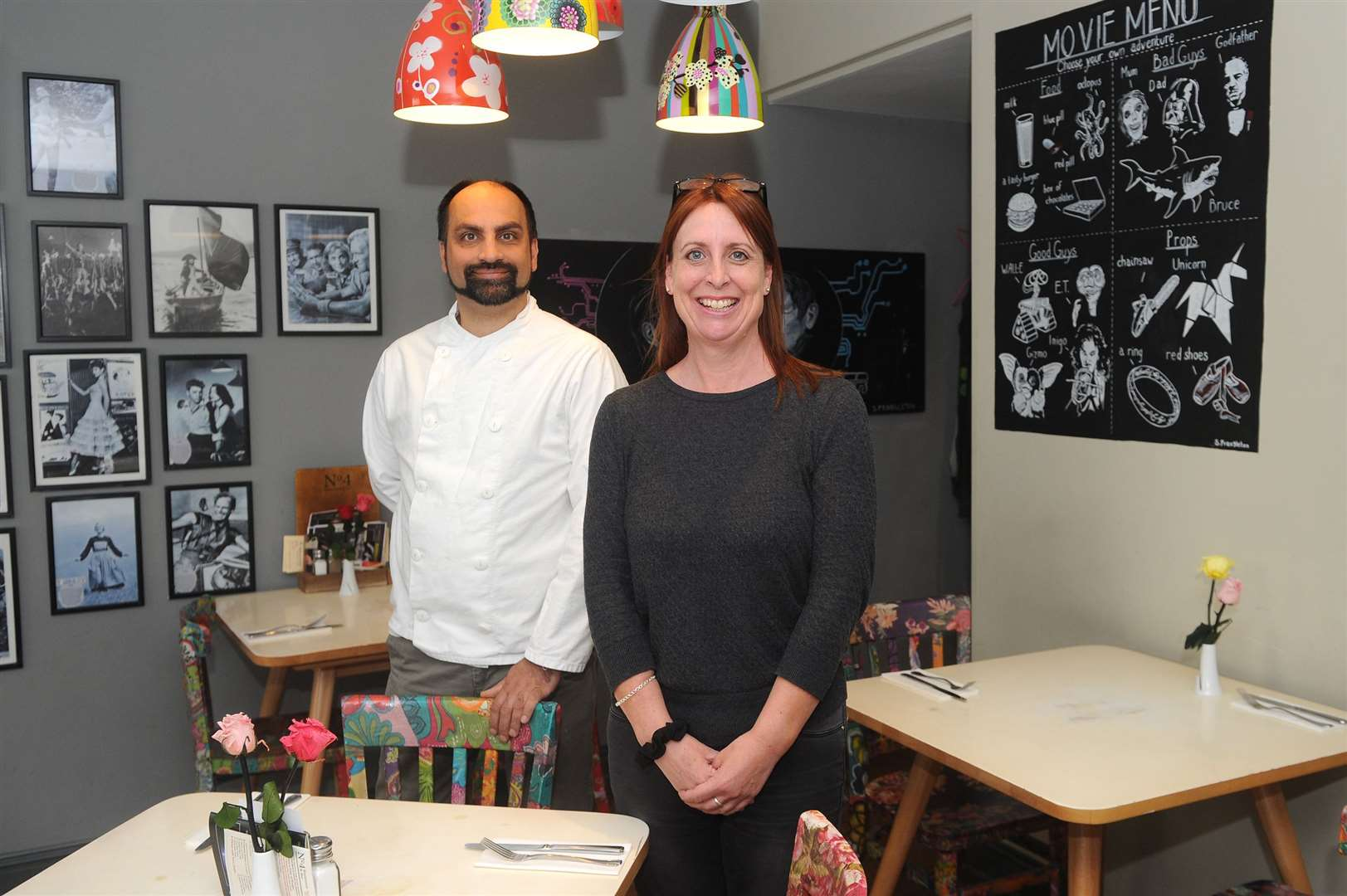 Head Chef Alex Rotherham and Marketing Manger Andrea Holmes