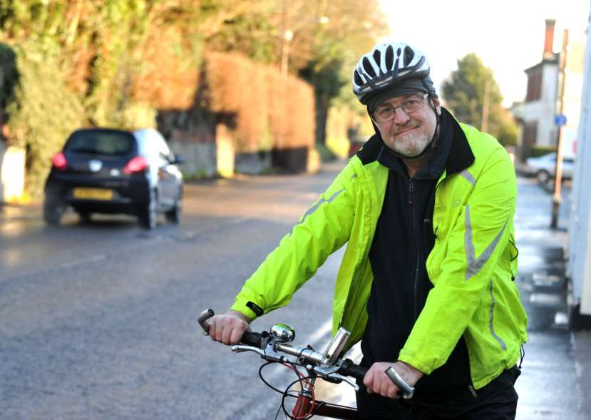 Local cycling campaigner Tim Regester says there needs to be a lot more done to make cycling safer in the town ANL-150113-171419009