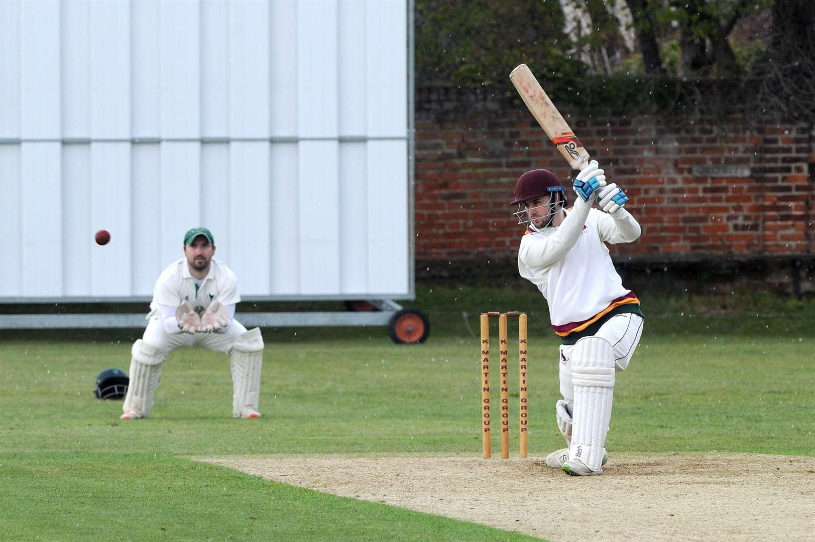 CRICKET - Sudbury (Batting) v Woolpit (Bowling)..Pictured: Ryan Vickery...PICTURE: Mecha Morton.... (8539945)