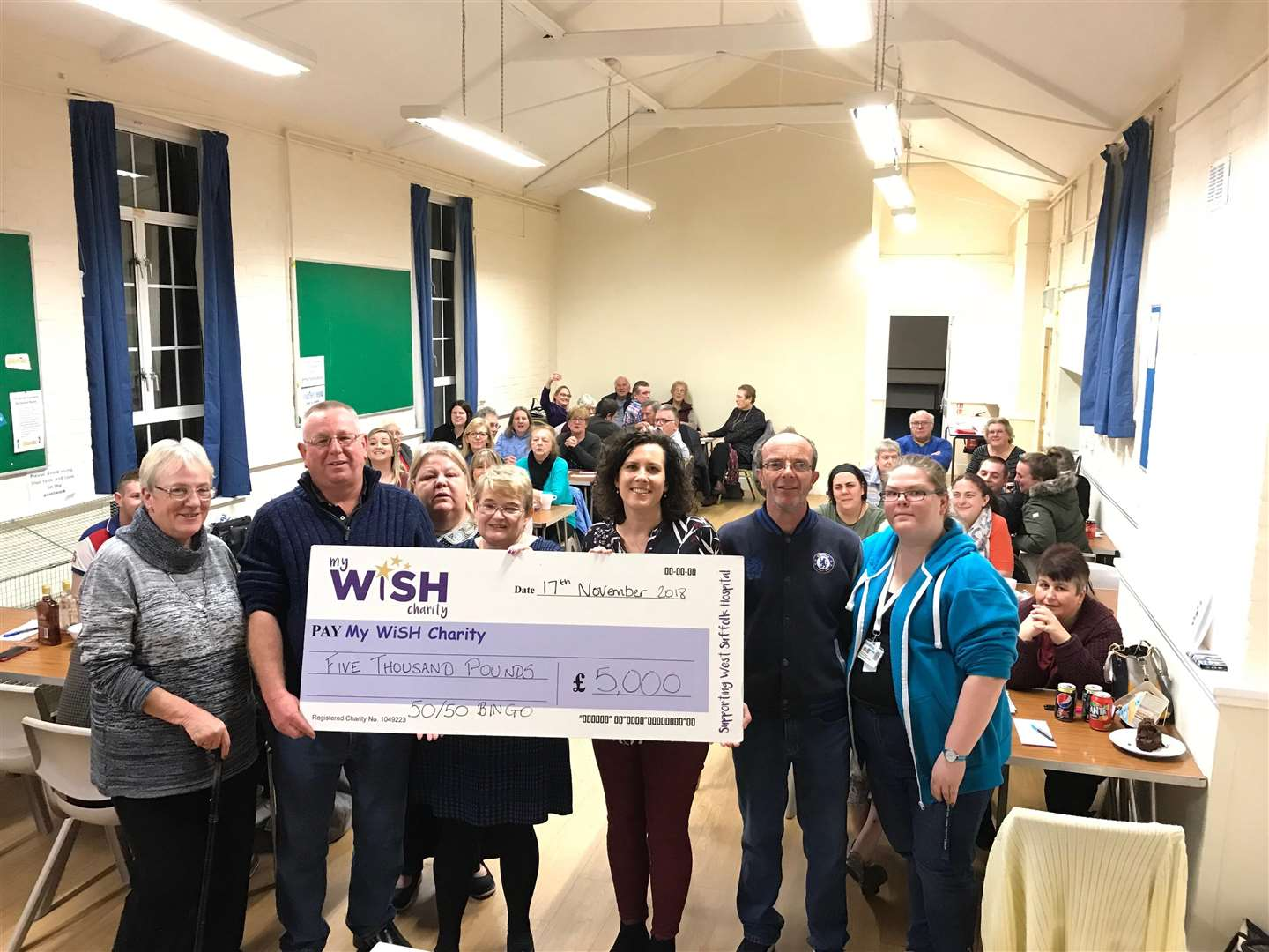 A monthly bingo session has raised thousands of pounds for My Wish charity at West Sffolk Hospital (6706421)