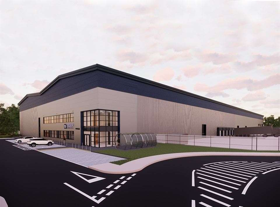 A visualisation of how one of the units will look when built at Haverhill Business Park. Contributed image