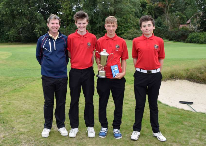 REGIONAL CHAMPIONS: Newton Green junior golfers who won the Junior Handicap Cup to book their place in the national finals
