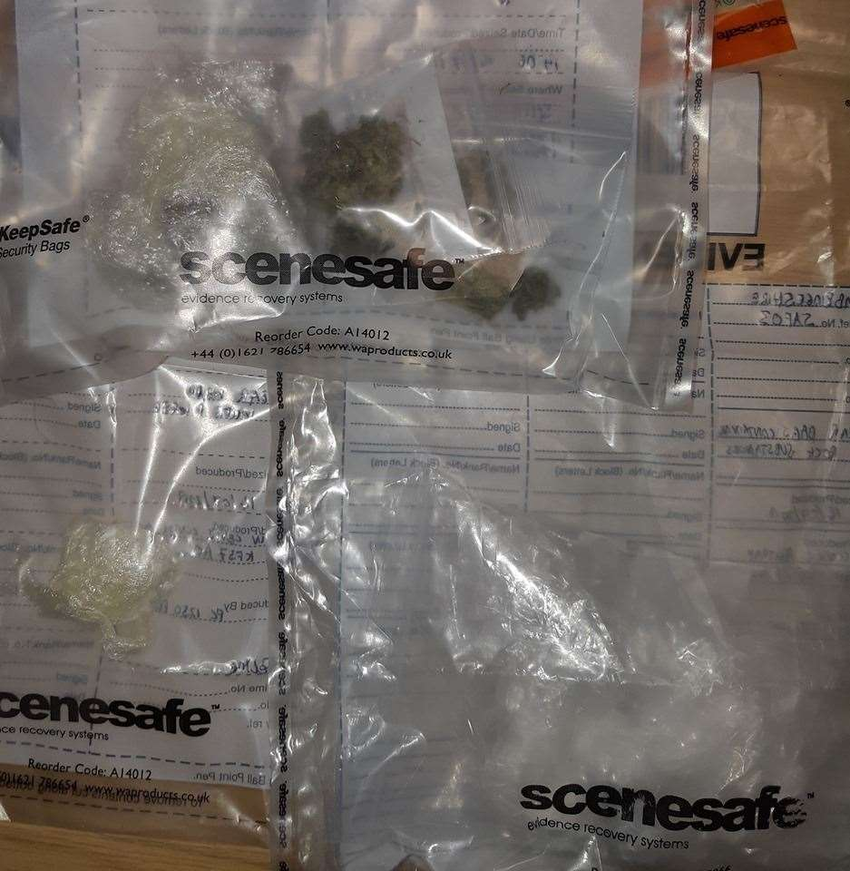 Drugs taken from 25-year-old man at Wicken Fen Nature Reserve (Picture: East Cambridgeshire Police) (13890134)