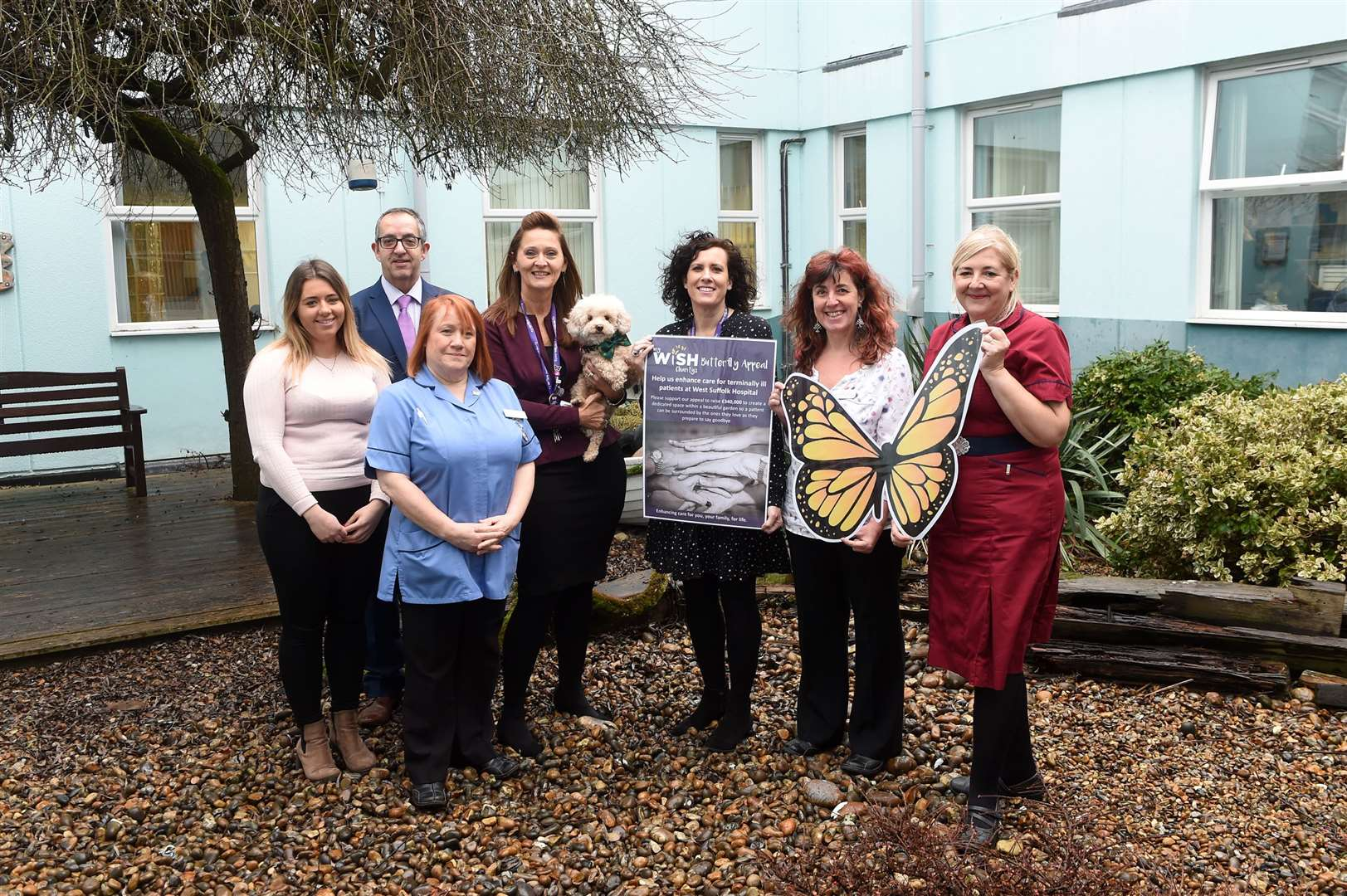 The Bury Free Press is supporting the My WiSH Butterfly Appeal, which aims to raise £340,000 to build a dedicated indoor space within a garden so patients can be surrounded by the ones they love as they prepare to say goodbye. Picture by Mecha Morton.