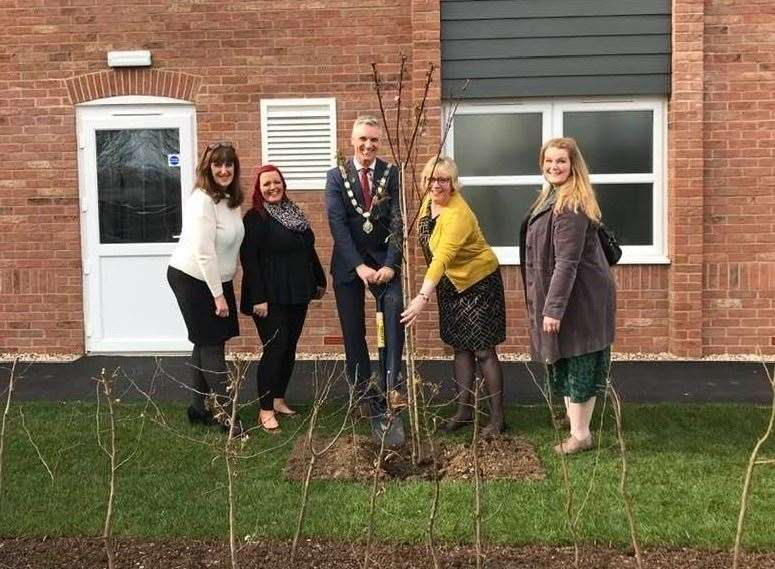 New trees were planted at the opening of Marham House