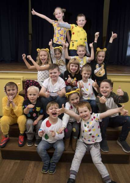 At Tollgate Primary School they went spotty, with at least one Pudsey ANL-161118-165452009
