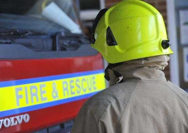 Firefighters were called to Homersfield yesterday evening to help a person whose vehicle was stuck in water