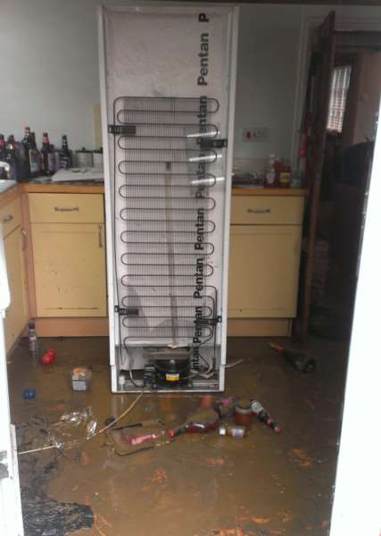 Kitchen after the flood
