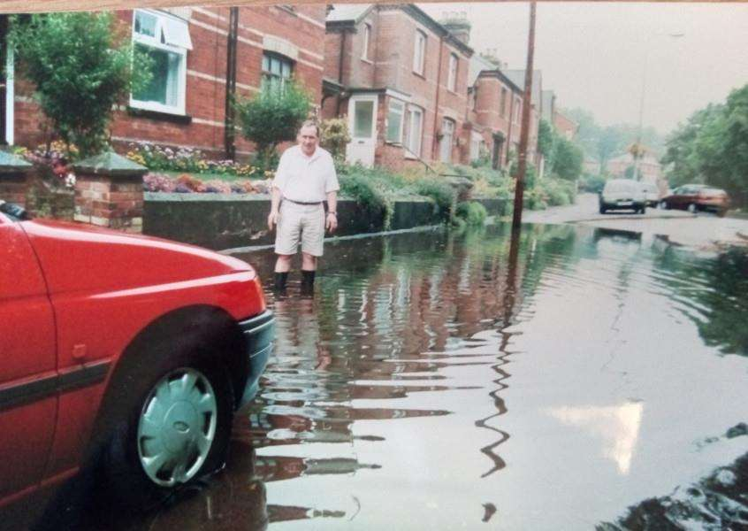 Some damp goings on pictured in August 1999, but what exactly happened?