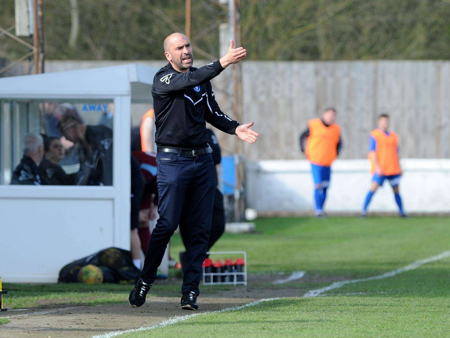 CUP HOPES: Bury Town manager Ben Chenery believes his side can embrace the underdogs tag