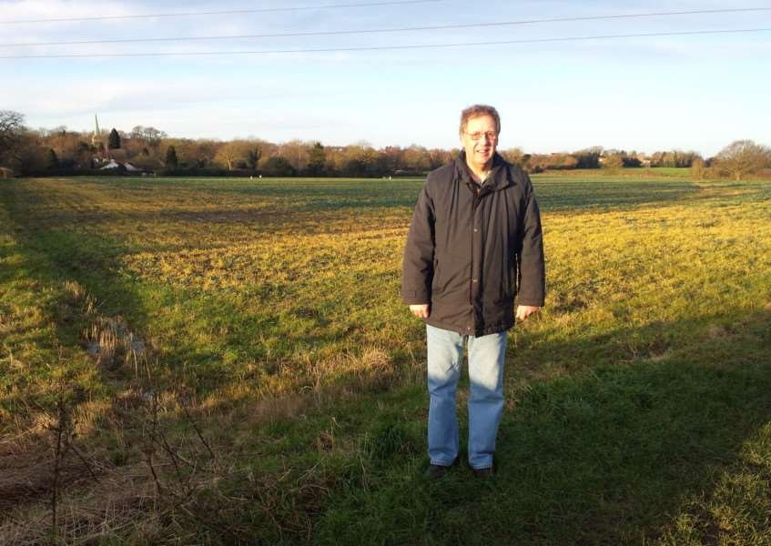 Cllr Keith welham at the proposed site for the new homes ANL-150114-110657001