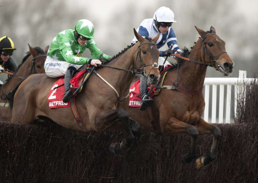 BECHERS CHAMP: Highland Lodge (right) has been purchased by the Thompsons. PICTURE: Racing Post