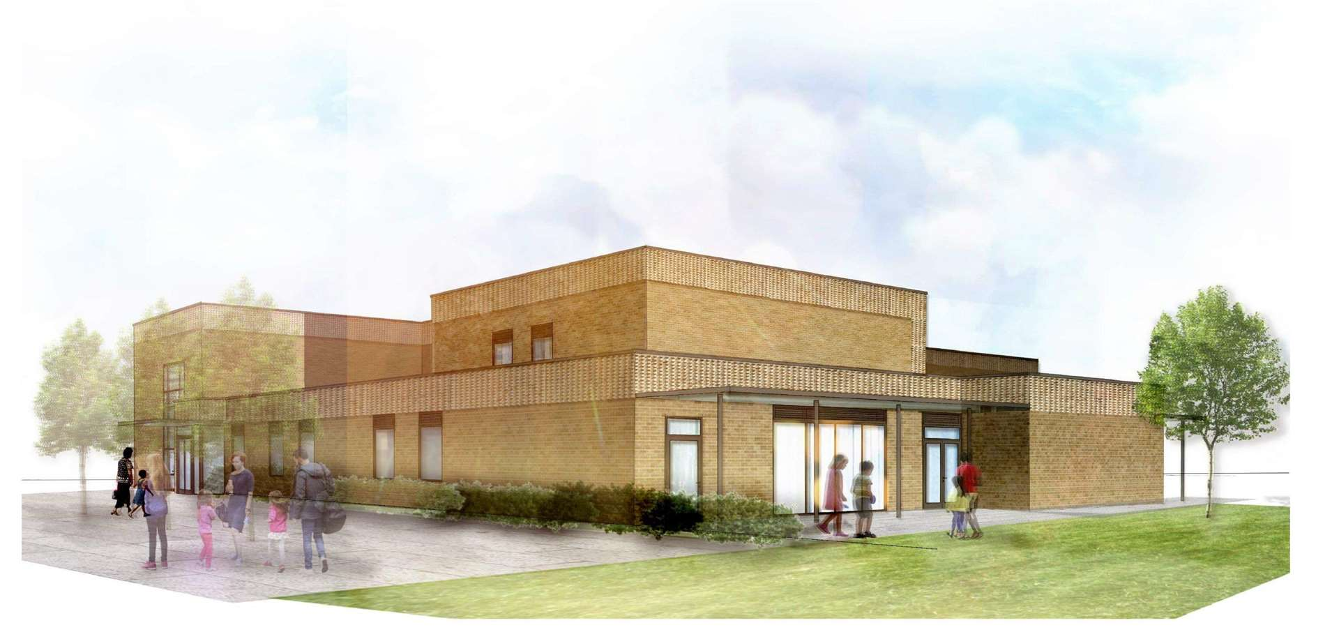 An artist's impression of the new primary school for Lakenheath in Station Road