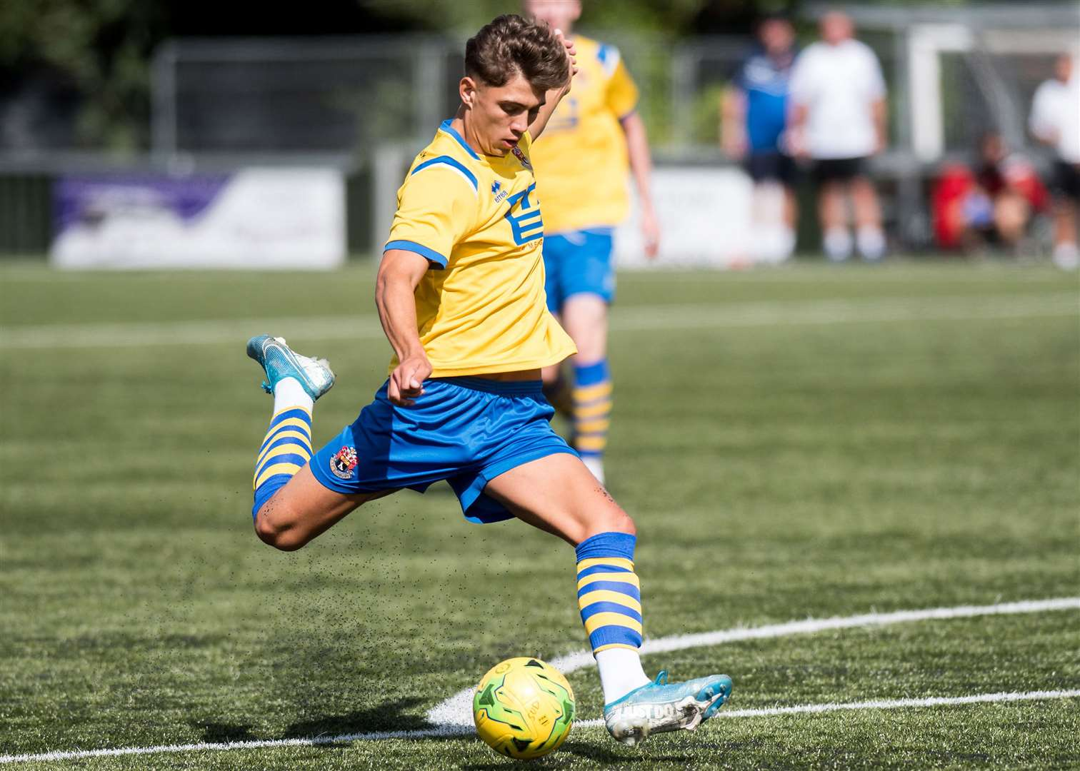 Shane Temple scored all four goals for AFC Sudbury against Harborough TownPicture: Mark Westley