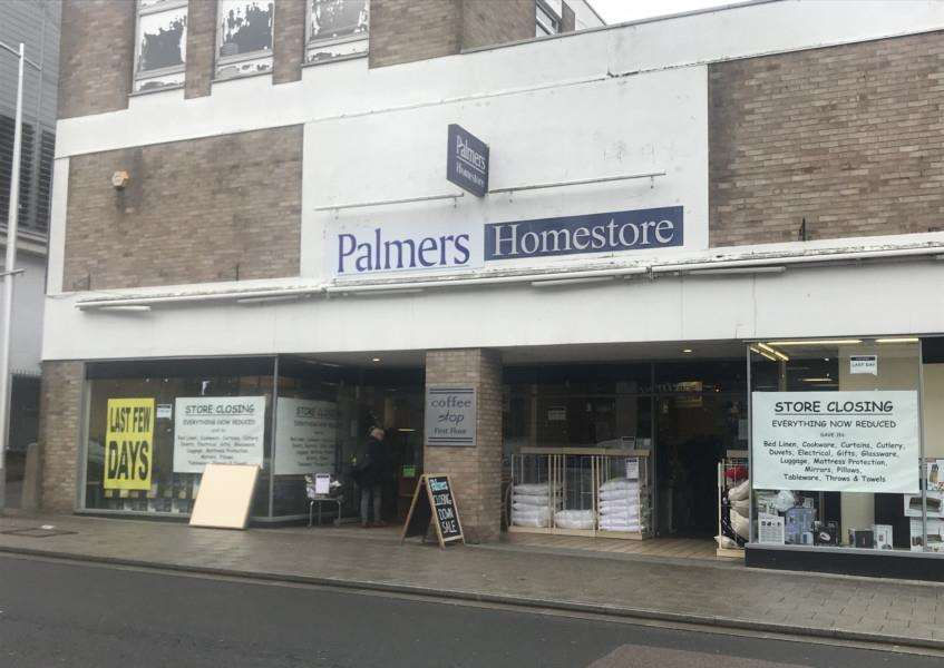 Palmers Homestore in St Andrews Street South is closing for good today.