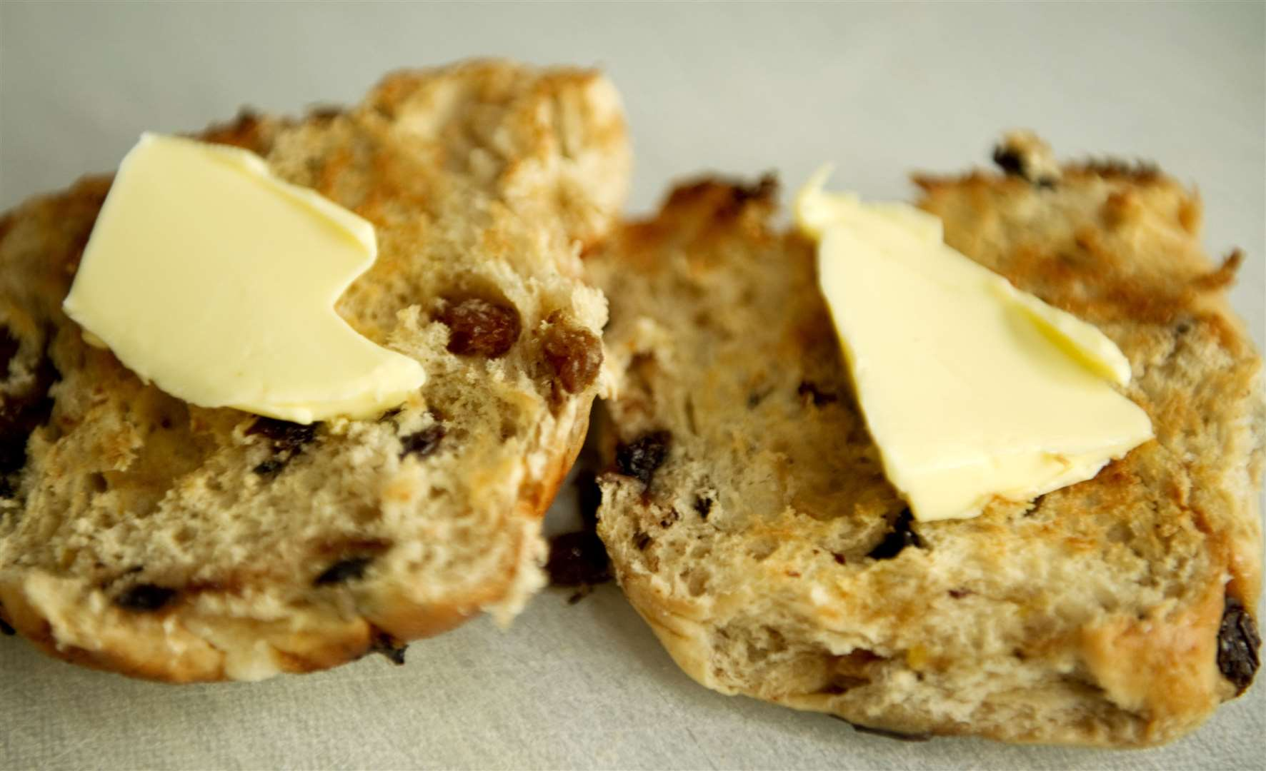 Hot cross buns are usually toasted nowadays for the perfect April snack,. Picture: Bob Peters (33147364)