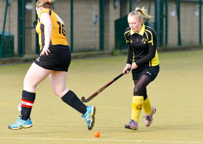 Haverhill first team captain Emily Humphry in action against March. ANL-141130-163409009