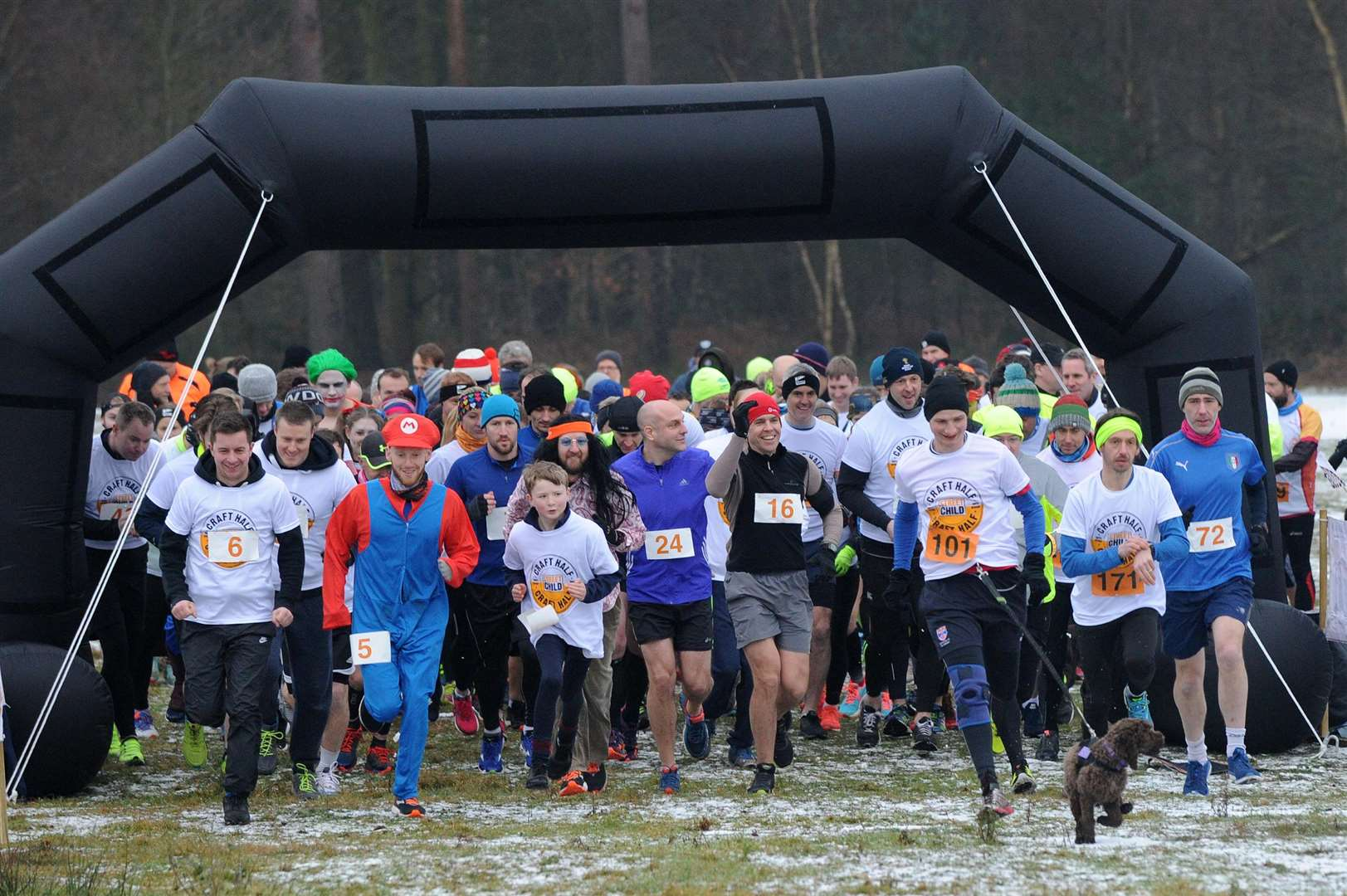 Around 150 runners joined in the Thetford Craft Half on Saturday, at High Lodge