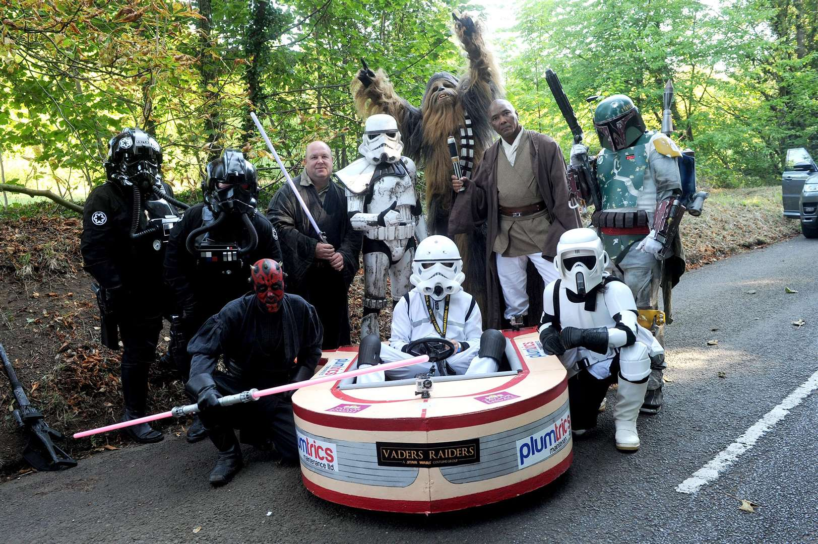 The first ever Soap Box Challenge in aid of the My WiSH Charity's Every Heart Matters appeal...Pictured: Team Star Wars...PICTURE: Mecha Morton... .. (3920335)