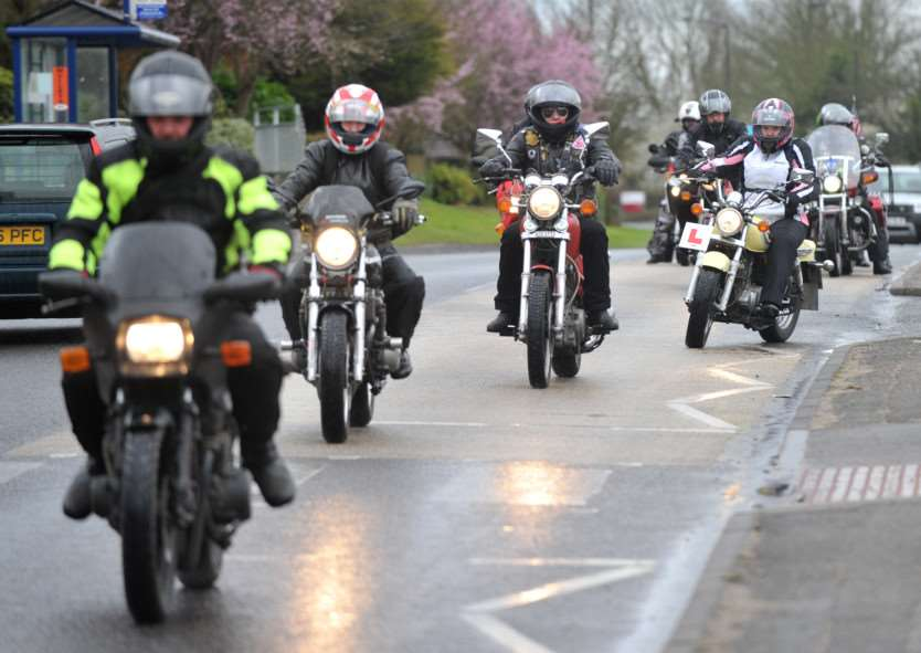 Bury & District MAG (motorcycle action group) held its annual Mad Cow Easter Egg Run today for the children at disability charity Scope in Shakers Lane. ANL-150329-202923009