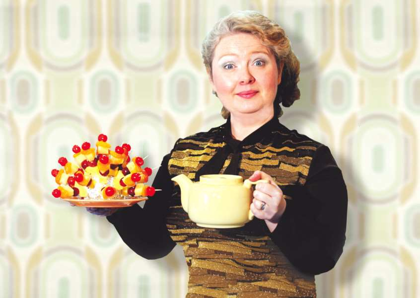 Catherine Harvey as Diana in Alan Ayckbourn's Absent Friends