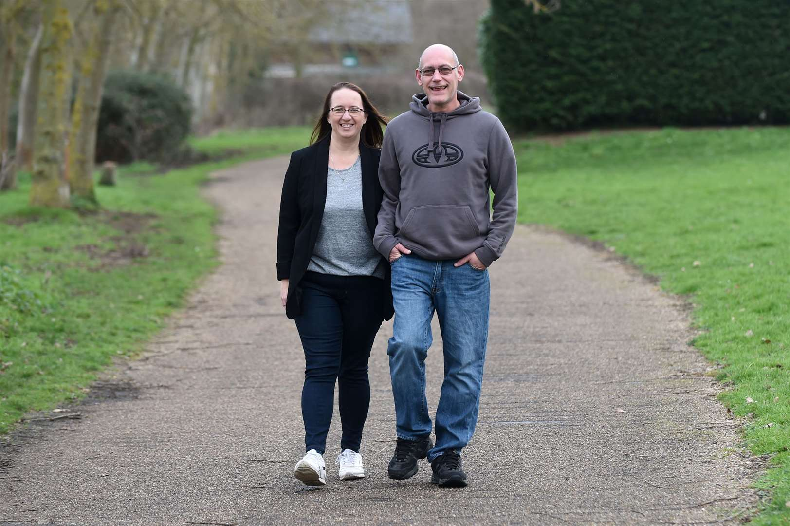 Husband and wife - Sam and Rhys Higgs achieved their target weight just before Christmas after attending their local Slimming World group..Sam has lost just over five stone since joining....PICTURE: Mecha Morton .... (26193912)