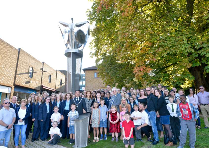 The Victory Clock is unveiled in Haverhill. Picture: Tudor Morgan-Owen ANL-150710-122758001